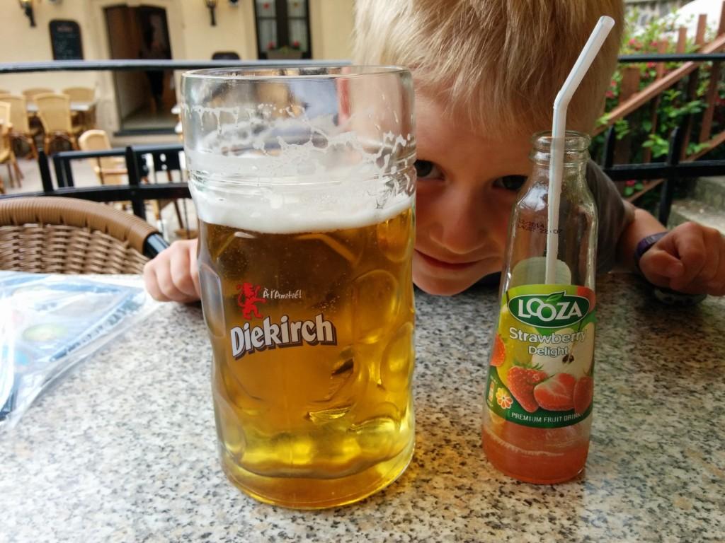 Een groot bier is dus een liter...